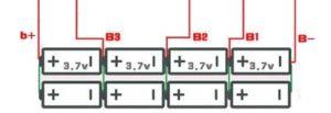 схема подключения платы защиты шуруповерта 4s